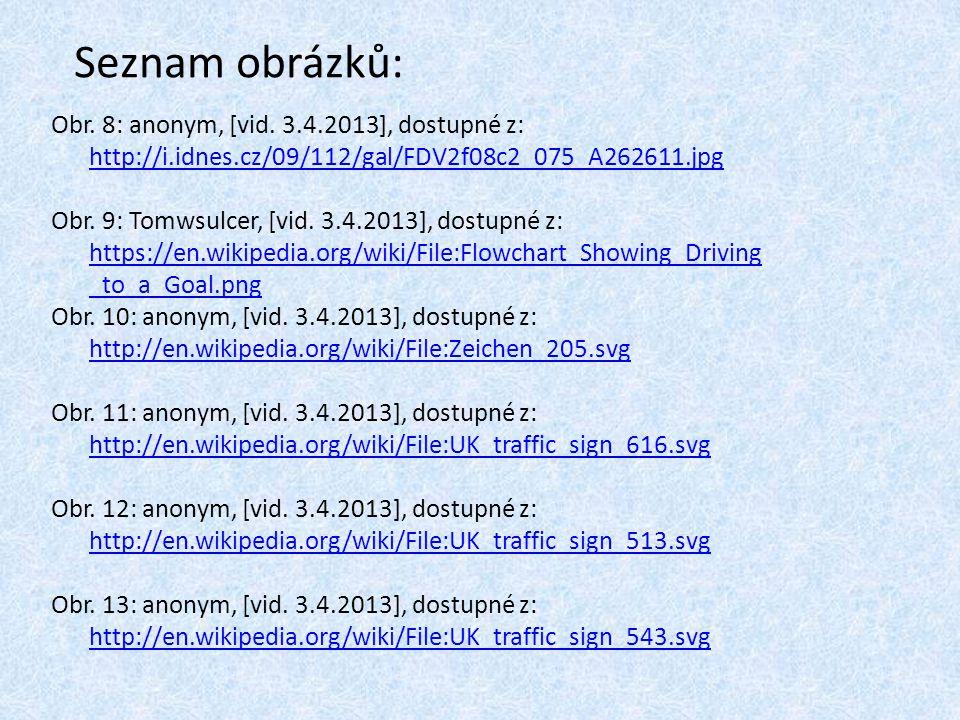Seznam obrázků: Obr. 8: anonym, [vid. 3.4.2013], dostupné z: http://i.idnes.cz/09/112/gal/FDV2f08c2_075_A262611.jpg.